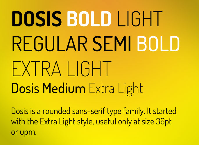 Dosis Font from Google Fonts
