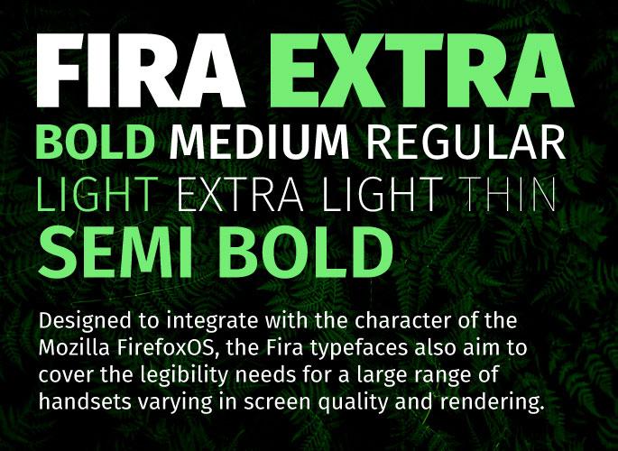 Fira Sans font from Google Fonts