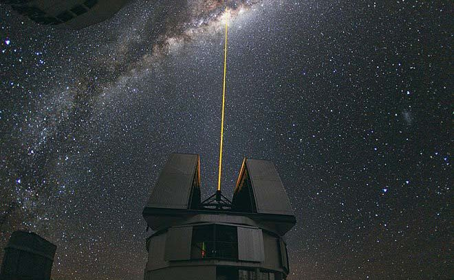 Laser Pointed towards the Milky Way at ESO's Paranal Observatory
