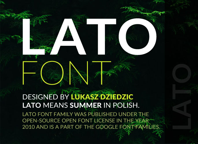 Lato Font from Google Fonts