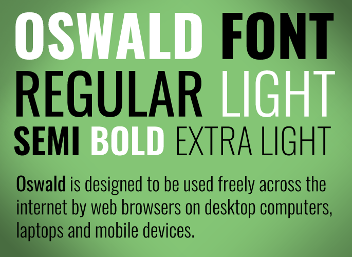 Oswald Font from Google Fonts