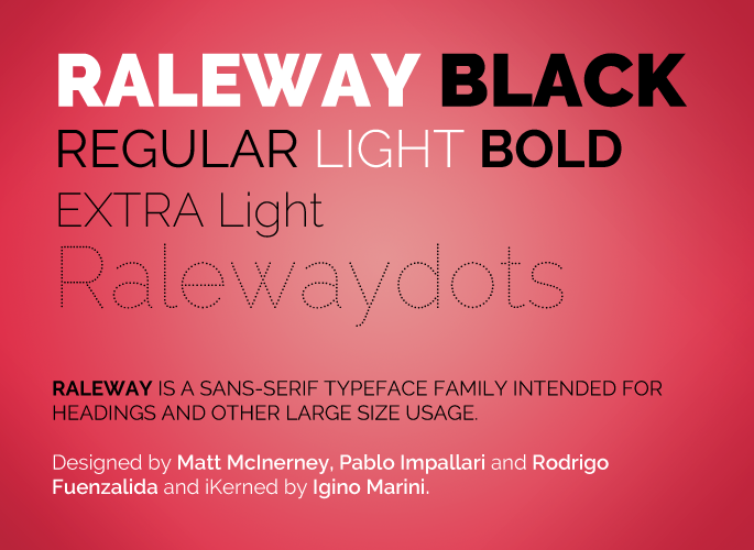 Raleway Font From Google Fonts