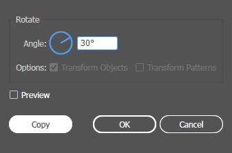 Rotate Tool Dialog Illustrator