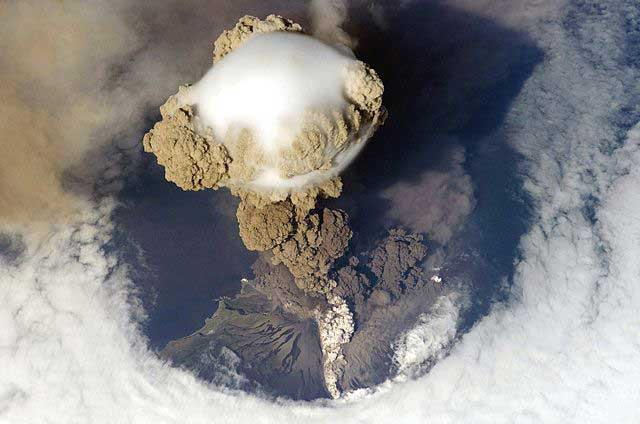 Sarychev Peak Volcano Eruption