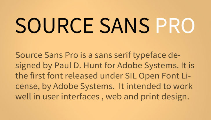 Source sans Pro font from Adobe