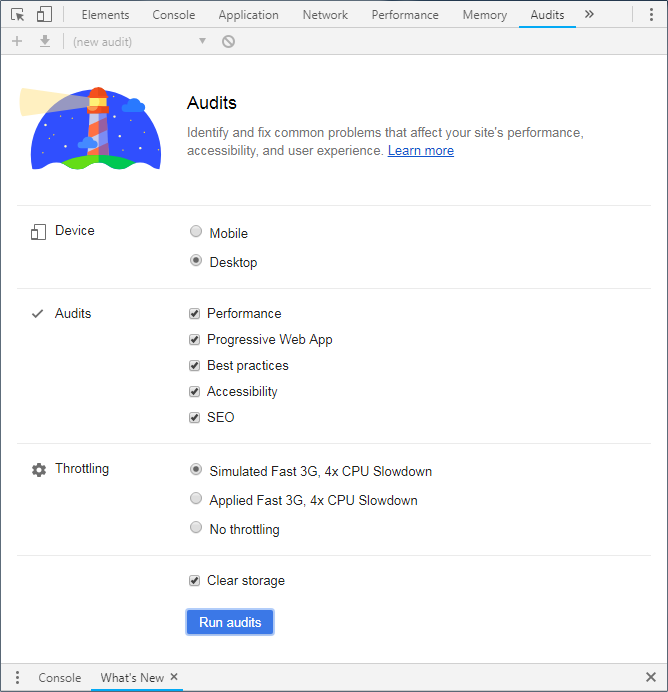 Google Chrome Audit Inspection Tool