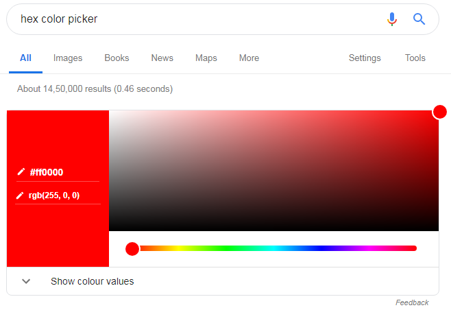 Hex Color Picker Google