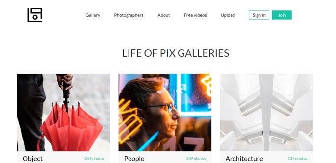 LifeOfPix Free Stock Image Site