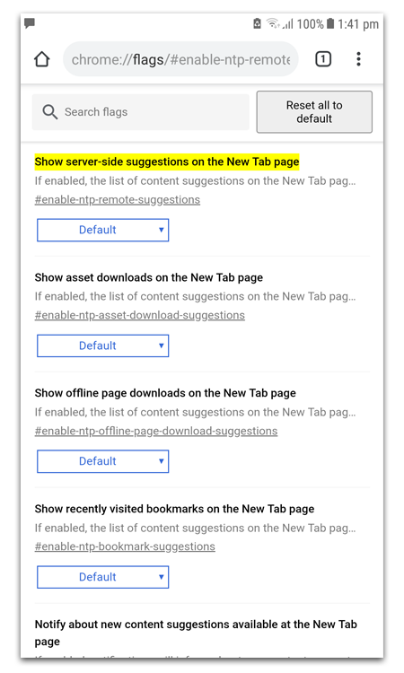 Suggested Articles Chrome