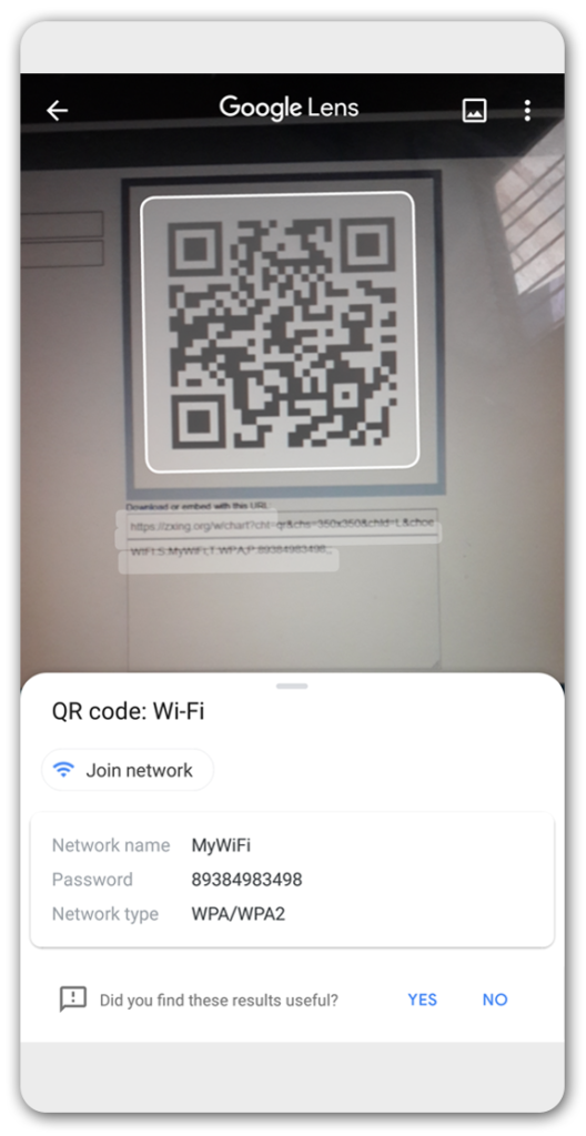 Connect to Wifi by scanning QR Code