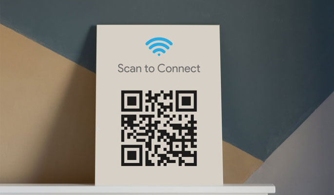 Connect Phone to Wi-Fi by Scanning a printed QR code