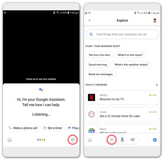 Google Assistant Lens QR Code Scanner