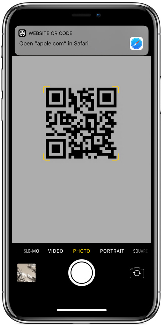 iPhone iPad QR code scanner