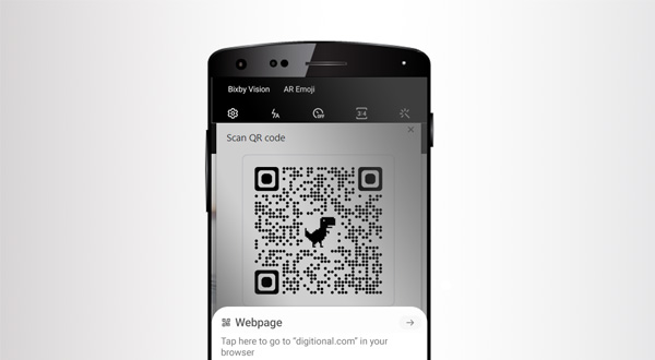 Transfer web URL's as QR codes from Android Chrome