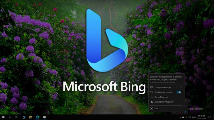 How to get a Fresh Wallpaper Each day with Bing Wallpaper