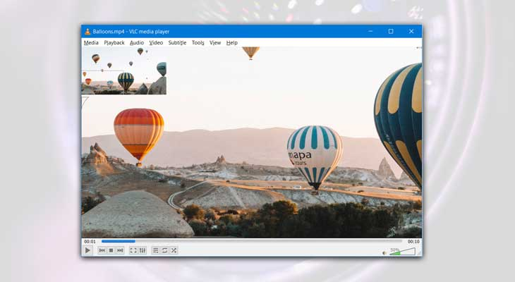 Enable Interactive Zoom in VLC player