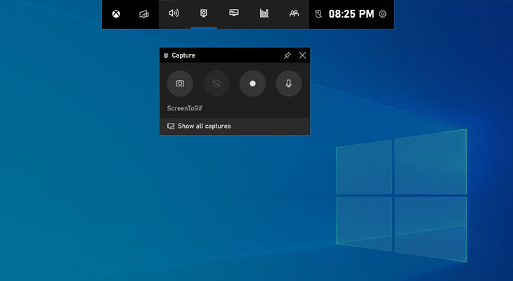 Record your Screen using Windows 10 Gamebar