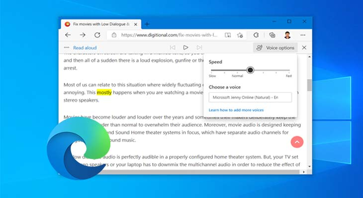 Enable Read Aloud or Text-to-Speech in Microsoft Edge