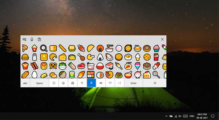 How to use the In-built Emoji Picker in Windows 10