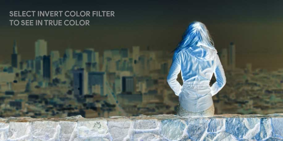 Inverting Color in Windows 10 using Color Filters